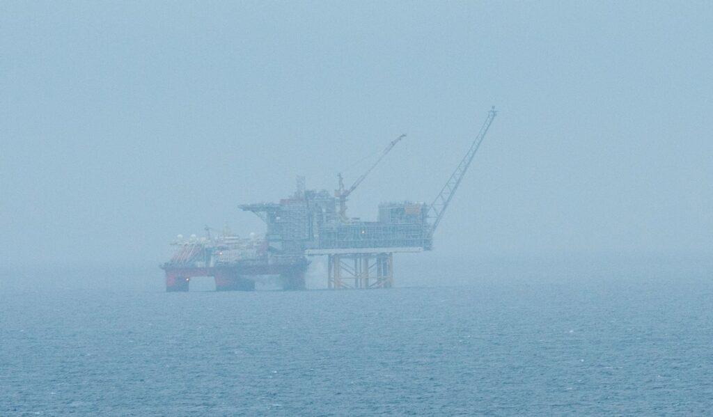 Plattform i Nordsjøen